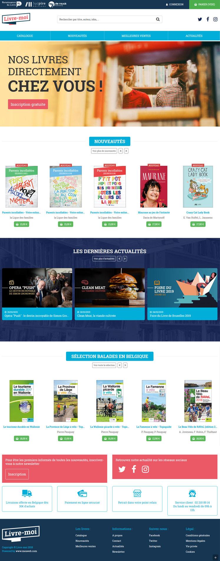 Snapshot du site web - Livre-moi