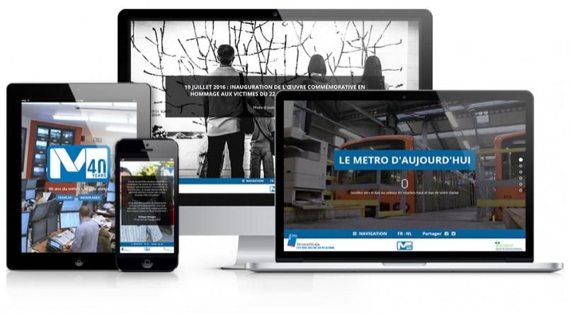 STIB / MIVB - Web documentaire pour les 40ans du métro