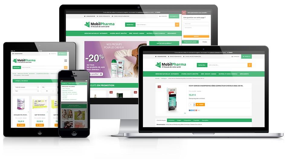 Pharmacie Vanderelst - Plateforme E-commerce MobilPharma