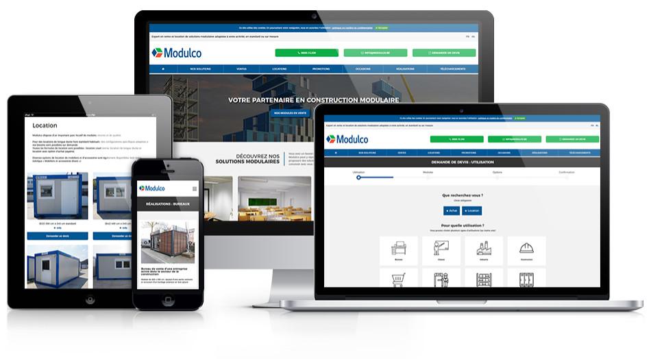 Modulco SPRL - Portail Internet, panel client et outils de gestion